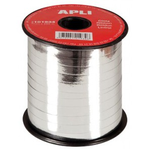 Apli sierlint 7 mm x 250 m, zilver