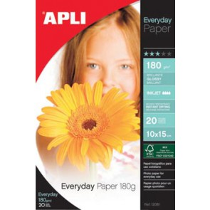 Apli fotopapier Everyday ft 10 x 15 cm, 180 g, pak van 20 vel