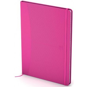 Oxford Signature business journal, ft A5, geruit 5 mm, 80 vel, soft touch kaft, roze