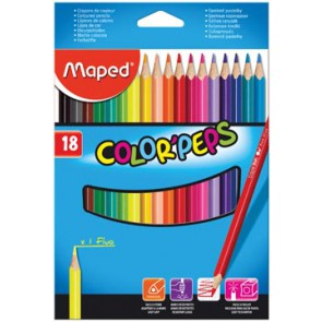 Maped kleurpotlood Color'Peps, 18 potloden