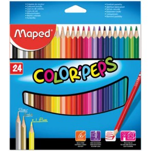 Maped kleurpotlood Color'Peps, 24 potloden
