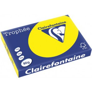 Clairefontaine Trophée Intens A3, 80 g, 500 vel, zonnegeel