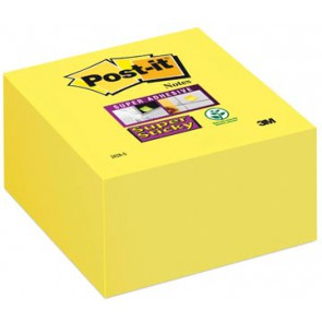 Post-it Super Sticky notes, ft 76 x 76 mm, neongeel, blok van 350 vel