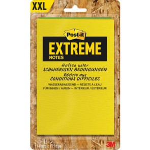 Post-it® Extreme Notes, ft 114 x 171 mm, 2 blokken van 25 blaadjes, geassorteerde kleuren