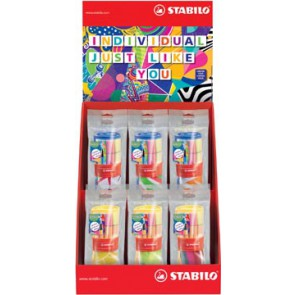Stabilo fineliner Point 88 + viltstift Pen 68, Individual Just Like You, display van 12 x 25 stuks