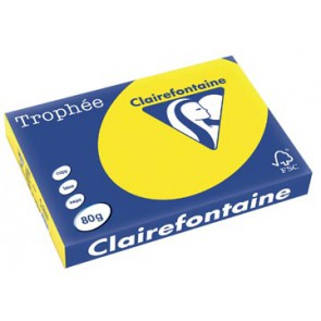 Clairefontaine Trophée Intens A3, 80 g, 500 vel, fluo geel