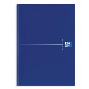 Oxford OFFICE Essentials gebonden boek, 192 bladzijden, gelijnd, ft A4, original blue