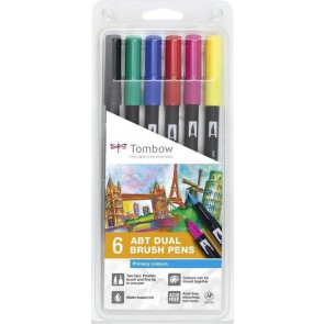 Tombow ABT set van 6 Primary Colors