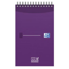Oxford OFFICE Essentials task manager, ft 12,5 x 20 cm, 140 bladzijden