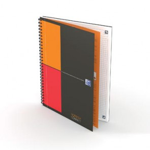 Oxford INTERNATIONAL notebook connect, stevige kartonnen kaft grijs, 160 bladzijden, ft B5,  geruit 5 mm