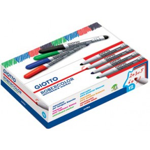 Giotto Robercolor whiteboardmarker maxi, ronde punt, rood