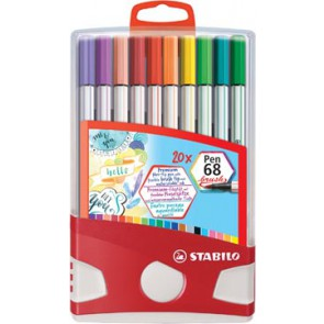 Stabilo brushpen Pen 68 Brush Color Parade, doos met 20 stuks