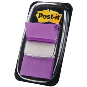 Post-it Index standaard, ft 25,4 x 43,2 mm, paars, houder met 50 tabs