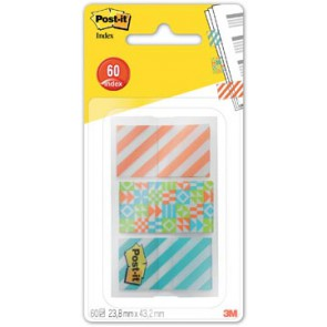 Post-It Index Smal geos voor ft 23,8 x 43,2 mm, 3 x 20 tabs