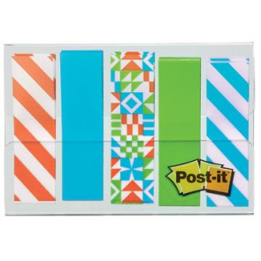 Post-it Index, Geos motief collectie, ft 11,9 mm x 43,2mm, 5 x 20 stuks