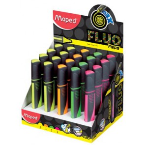 Maped markeerstift Fluo'Peps Max, display met 24 stuks