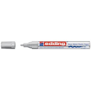 Edding glanslakmarker e-750 CR zilver