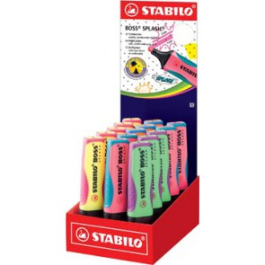 Stabilo Boss markeerstift Splash, display van 15 stuks