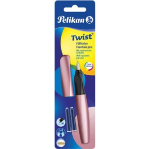 Pelikan vulpen Twist, op blister, girly rose