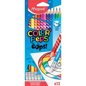 Maped kleurpotlood Color'Peps Oops, 12 potloden in een kartonnen etui