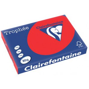Clairefontaine Trophée Intens A3, 80 g, 500 vel, koraalrood