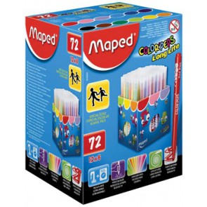 Maped Viltstift Color'Peps 72 stiften in een kartonnen doos (classpack)