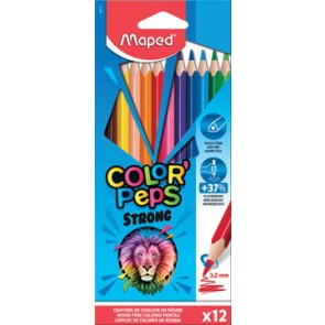 Maped kleurpotlood Color'Peps Strong, 12 potloden in een kartonnen etui