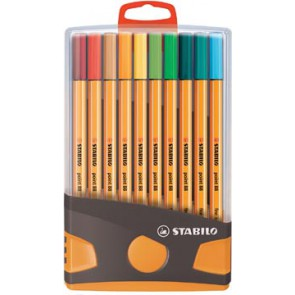 Stabilo fineliner Point 88 Color Parade, oranje, doos met 20 stuks