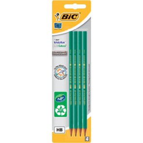 Bic potlood Evolution 650 HB, blister van 4 stuks