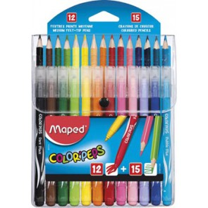Maped Color'Peps combo pack 12 viltstiften + 15 kleurpotloden