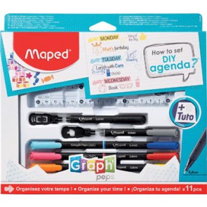 """Maped """"How to agenda""""-set, 11-delige ophangdoos"""