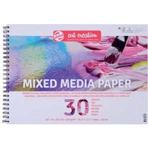 Van Gogh Mix Media papier 250 g/m² ft A3, blok met 30 vellen