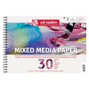 Van Gogh Mix Media papier 300 g/m² ft A4, blok met 30 vellen