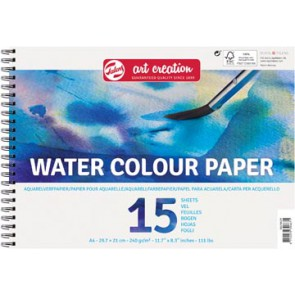 Talens Art Creation aquarelpapier, 240 g/m², ft A4, blok met 15 vellen