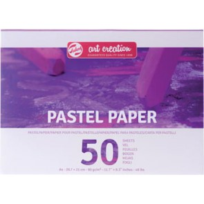 Talens Art Creation pastelpapier, 90 g/m², ft A4, blok met 50 vellen
