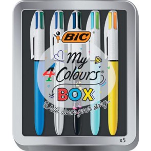 Bic My 4 Colours Box 5-delig