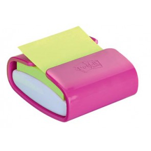 Post-it Z-Notes dispenser Pro Color roze, voor ft 76 x 76 mm, blok van 90 vel, neon groen