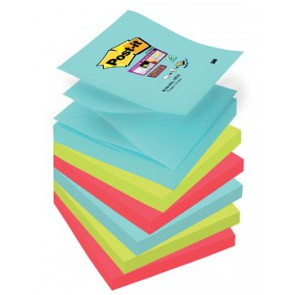 Post-it Super Sticky notes Miami, ft 76 x 76 mm, 90 vel, pak van 6 blokken
