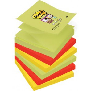 Post-it Super Sticky Z-Notes Marrakesh, ft 76 x 76 mm, geassorteerde kleuren, 90 vel, pak van 6 blokken