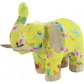 Décopatch olifant, papier-maché